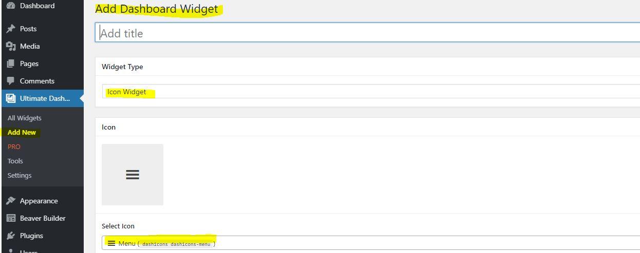 Adding widgets to the WordPress dashboard